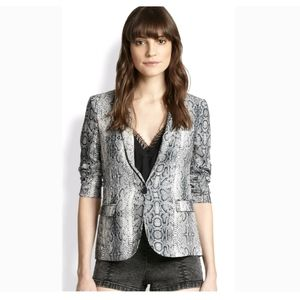 The Kooples Python Snake Crepe Blazer Career i1